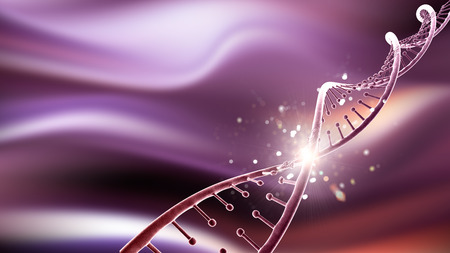 3D render of a medical background with abstract DNA strand