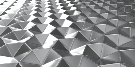 Render of 3D Geometric Abstract Hexagonal Wallpaper Background 免版税图像