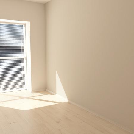 Render współczesnego pustego pokoju 3D