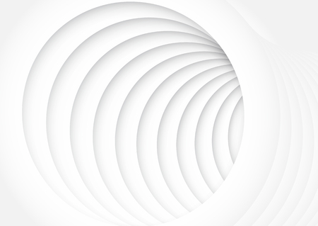 Abstract monochrome design with circle tunnel effect