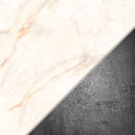 Grunge metal on a marble stone texture background