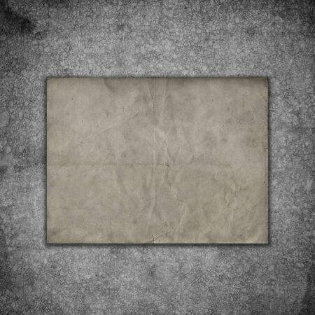 Grunge style paper on an old concrete background Banco de Imagens