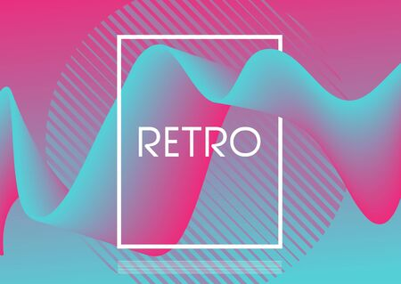 Retro abstract design background with flowing shape Foto de archivo - 130055116