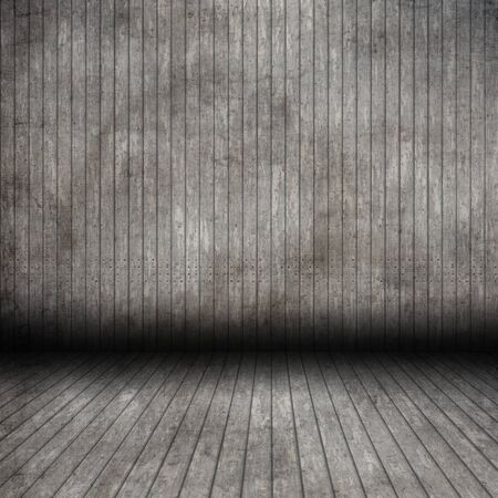 3D render of a grunge wooden room interior Stock fotó