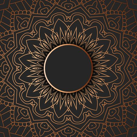 Abstract background with a decorative mandala design
