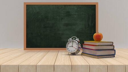 3D Render of BAck to School Concept Stok Fotoğraf