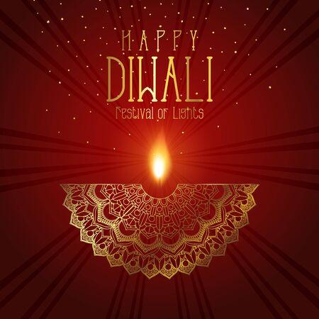 Elegant Diwali background with decorative mandala design