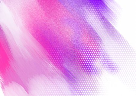 Abstract watercolour background with a halftone dots design Banco de Imagens - 131083371