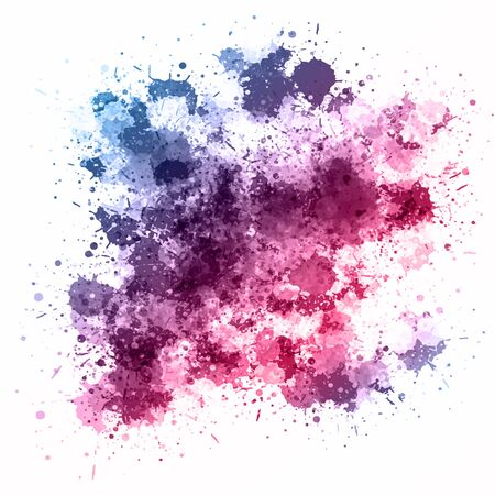 Detailed background with a watercolour splatter design Banco de Imagens - 131083497
