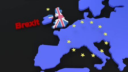3d render of a brexit graphic