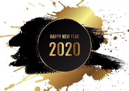 Grunge style Happy New Year background Imagens