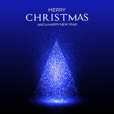 Christmas background with a sparkling dots tree design