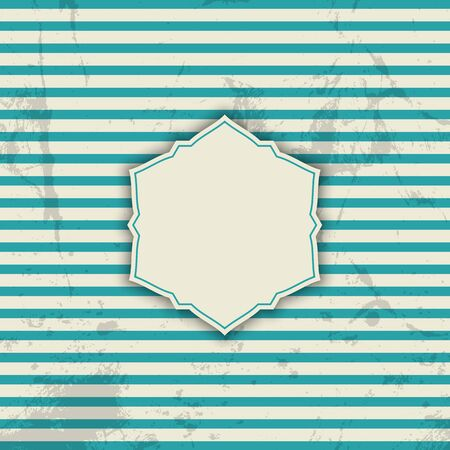 Vintage styled striped background with grunge overlay Imagens
