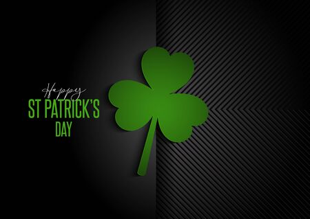 Modern background for St Patricks Day with clover design