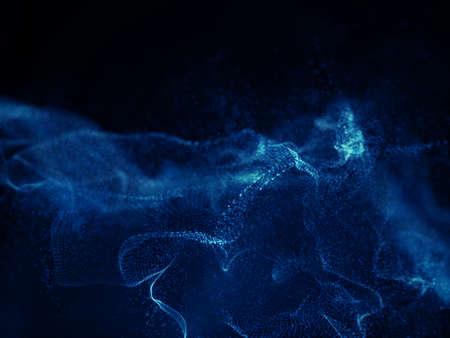 3D render of a digital techno wave background design 版權商用圖片