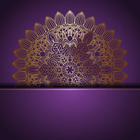 Abstract background with an elegant mandala design