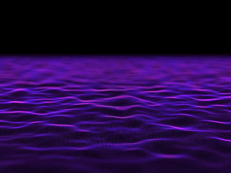 3D render of an abstract digital background with flowing cyber dots 版權商用圖片 - 151729181