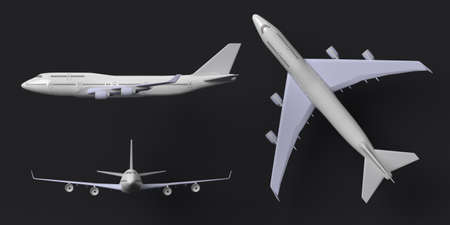 3d render of Airplane isolated on blank background