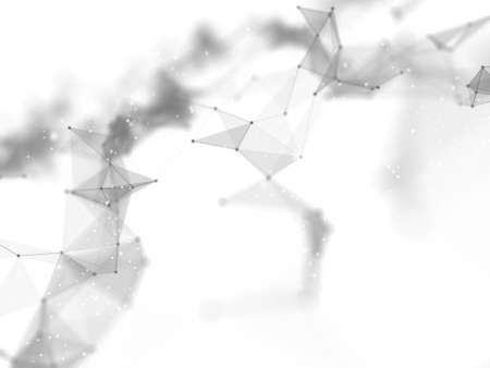 3D render of an abstract connections background. Networking, connecting lines and dots 版權商用圖片 - 151811770