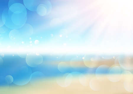 Abstract defocussed summer background with bokeh lights design