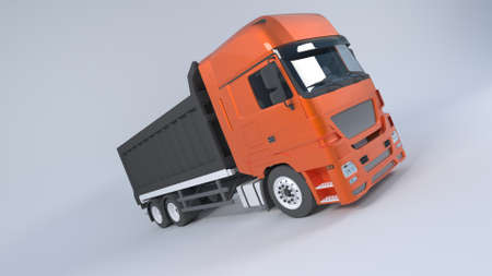 3D Render of a Tipper Dump Truck Isolated. 版權商用圖片 - 152613397