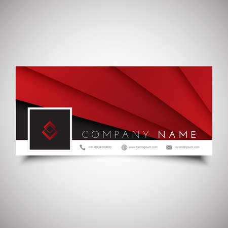 Social media timeline cover design with abstract design Vecteurs