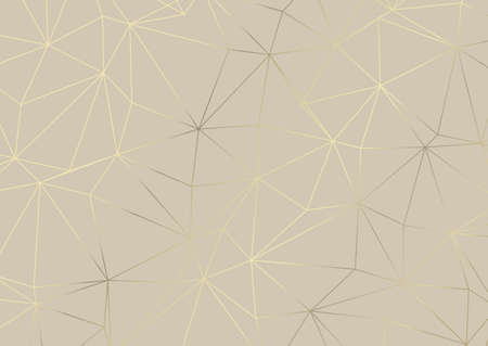 Abstract low poly pattern design in metallic god and cream Vettoriali