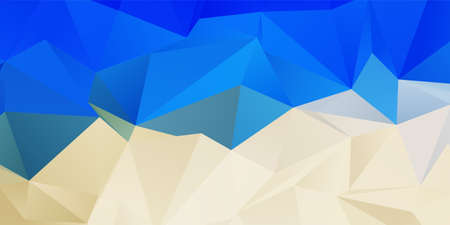 Banner with a beach themed low poly design