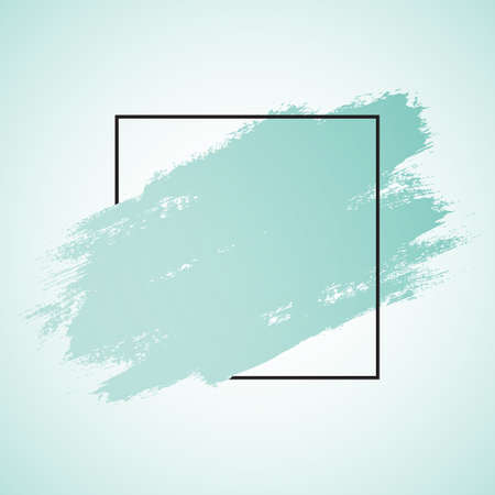 Abstract background with a grunge brush stroke and black border