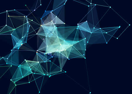 Abstract background with a low poly network connections design