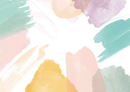 Abstract background with a hand painted watercolour design 向量圖像