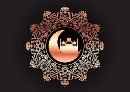Decorative gold and black Ramadam Kareem background