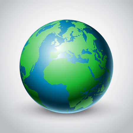 Abstract background with a world globe design