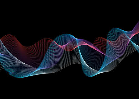 Abstract background with a flowing lines design 向量圖像