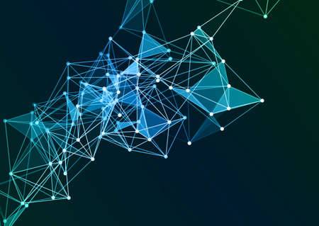 Abstract background with a low poly network connections background design