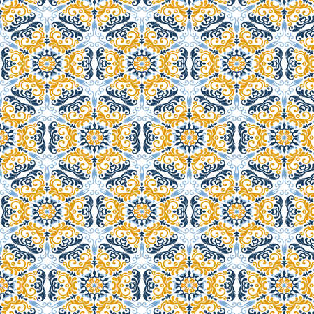 Abstract pattern background with a Moroccan themed design 向量圖像