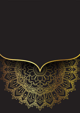 Decorative background with an elegant gold and black design 向量圖像