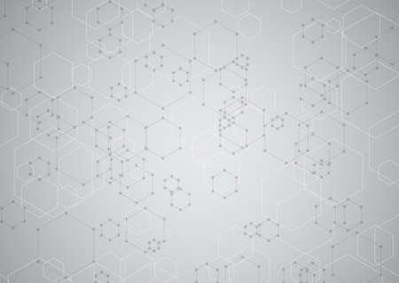 abstract background with a modern hexagonal tech design 向量圖像
