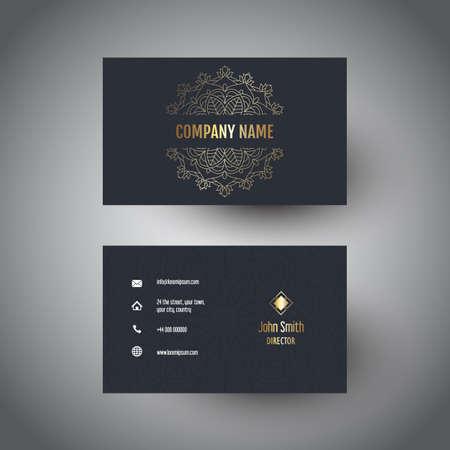 Business card with an elegant mandala design