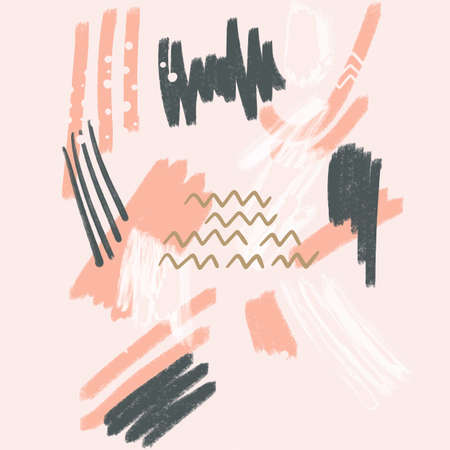 Abstract background with a hand painted art design