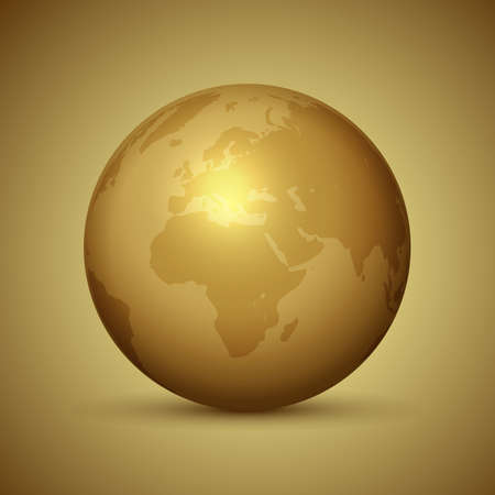 Abstract background with a golden globe design