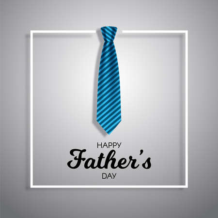 Fathers day background with neck tie and white border design
