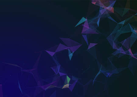 Colourful network communications background with connecting lines and dots design