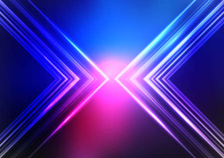 Abstract background with a neon style design