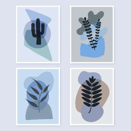 Collection of minimal hand painted wall art designs