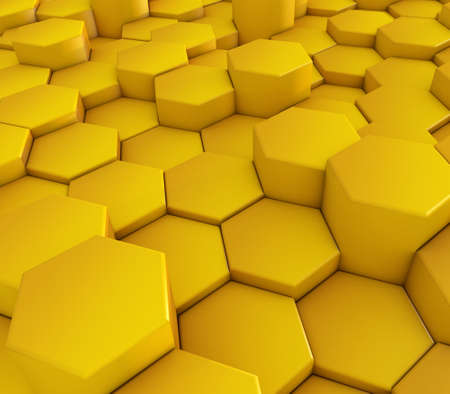 3D render of an abstract background with hexagonal shapes 版權商用圖片