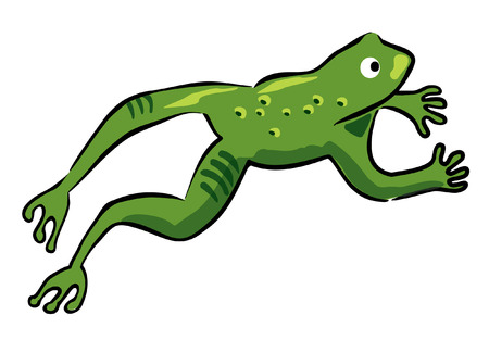 Leaping frog  イラスト・ベクター素材