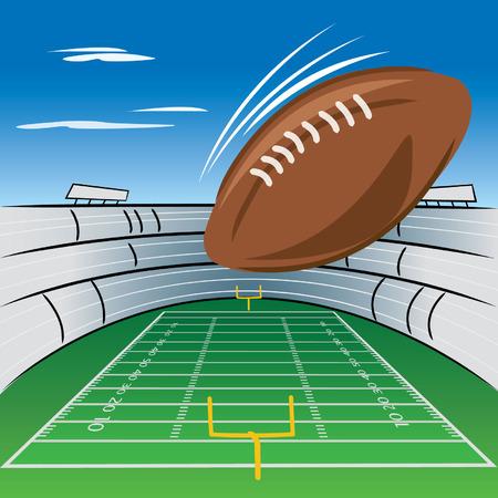 Football field and stadium Illustration