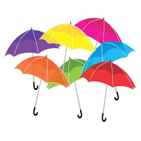 Colorful umbrellas Illustration
