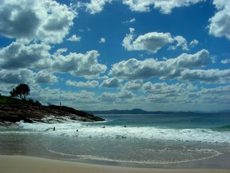 Bright Sunny Day on Beach